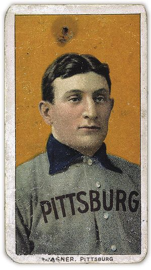 English: The famous Honus Wagner T206 card, ci...
