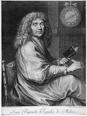 Jean-Baptiste Poquelin dit Molière. This engra...