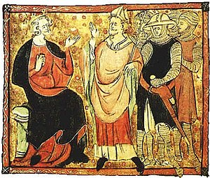 English: King Henry II and Thomas Archbishop Č...