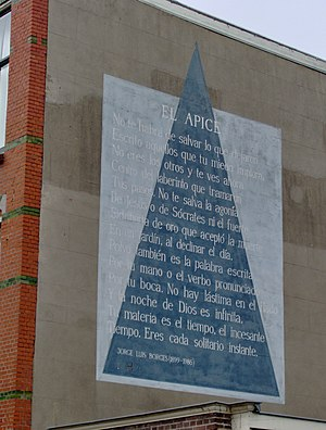 English: The poem El apice of the Argentinian ...