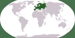 Locazación de Europa.