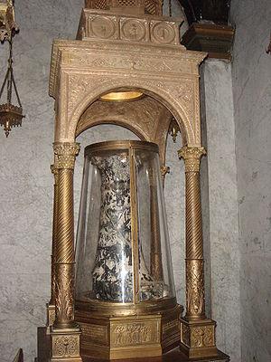 The Column of the Flagellation, Basilica di Sa...
