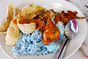 English: Nasi kerabu