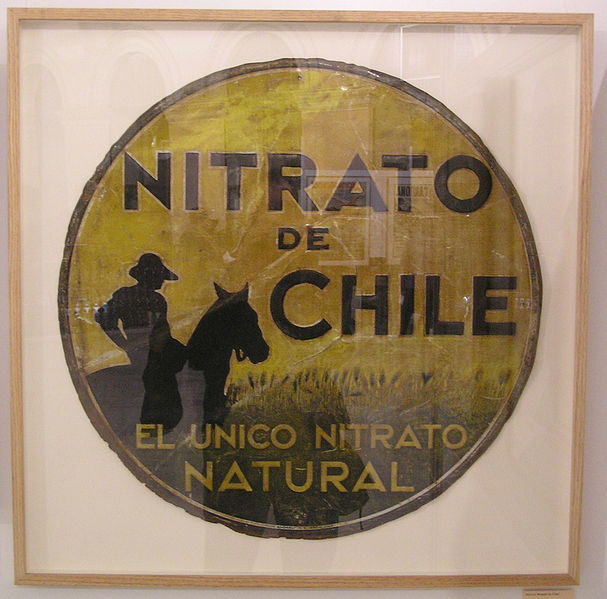 "A poster advertising life of the ""Abonos Nitrato de Chile"" (Fertilizer Nitrate of Chile), 1930."