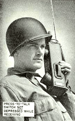 "SCR536 US Signal Corps ""Walkie Talkie"""
