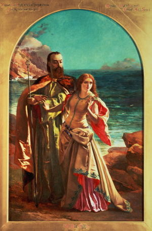 Prospero and Miranda from a painting by Willia...