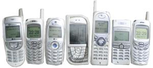 Several mobile phones