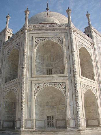 Taj Mahal wall close-up