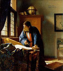 O Geógrafo, por Johannes Vermeer.