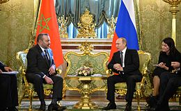 Mohammed VI (left) with Russian President Vladimir Putin in 2016.