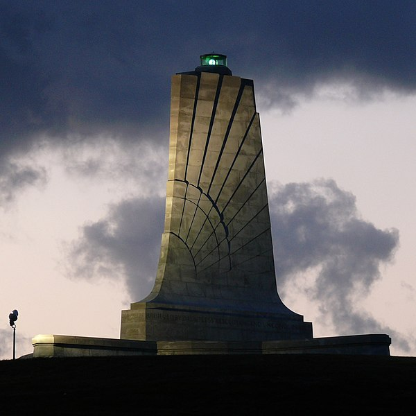 Kill Devil Hills monument to theWright Brothers