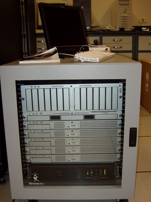 A small Xserve cluster with an Xserve RAID.