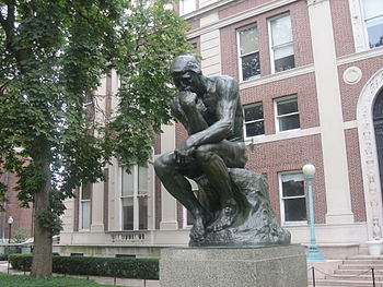 "English: ""The Thinker"" statue at Col..."