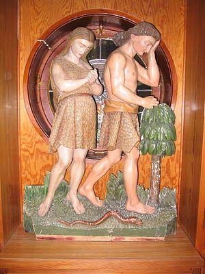Deutsch: Relief Vertreibung von Adam und Eva a...