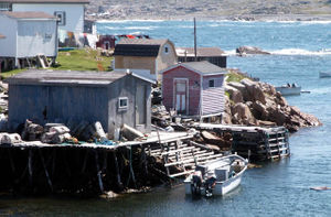 Fishing stages in Fogo, Newfoundland