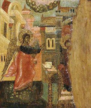 Beatitudes, Russian Orthodox Icon (detail)