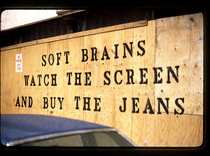 Soft Brains Watch The Screen And buy the Jeans...