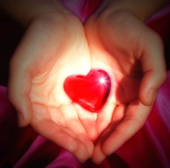 A heart being used as a symbol of love. Photo ...