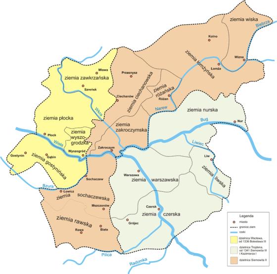 Mapa Księstwa Czerskiego