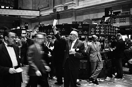 NY stock exchange traders floor LC-U9-10548-6