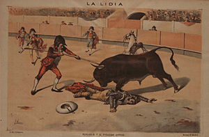Español: Lámina realizada por el pintor sevill...