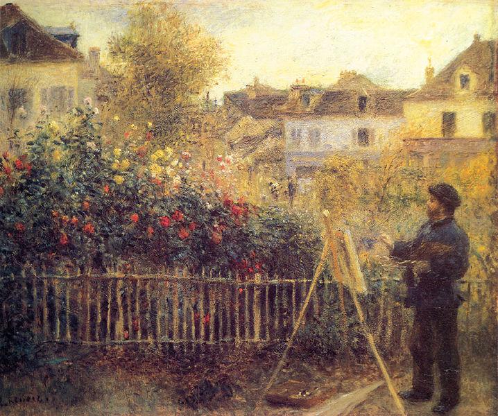 File:Pierre-Auguste Renoir - Claude Monet painting in his Garden at Argenteuil.jpg