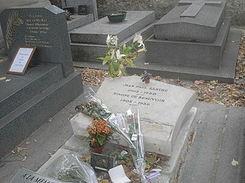 Graves of Sartre and Beauvoir
