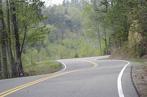 A tranquil ribbon of road. The only thing miss...