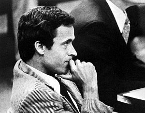 English: Ted Bundy in custody, Florida, 1978 o...