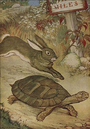 The Tortoise and the Hare, illustrated by Milo...