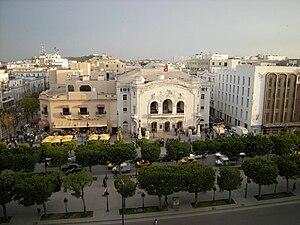 Théâtre municipal de Tunis et le Palmarium sur...