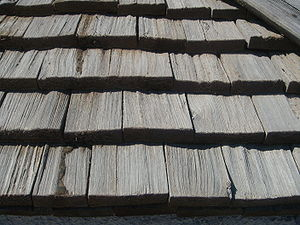 English: Wooden shingles