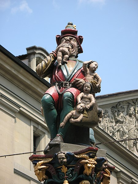 File:4377 - Bern - Kindlifresserbrunnen am Kornhausplatz.JPG