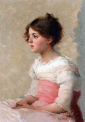 English: Portrait of young girl