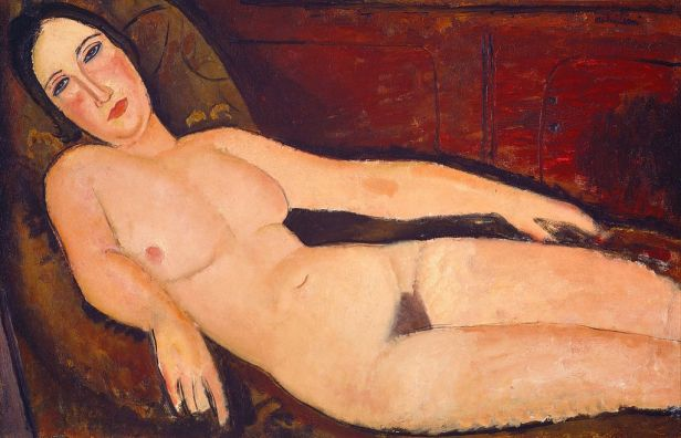 Amedeo Modigliani - Nude on a Divan (1918)