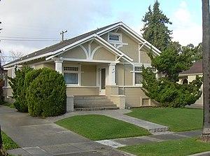 American craftsman bungalow in San Jose, Ca.