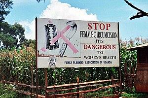 English: A campaign against female genital mut...