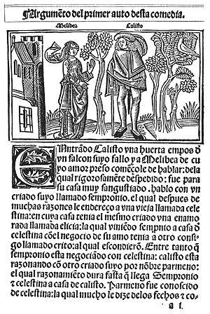 Primera edición de la Comedia de Calisto y Melibea