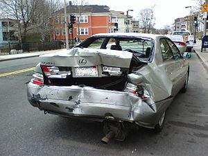 English: Motor vehicle accident following a ve...
