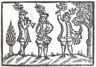 Gravure sur bois allemande, XVIIIe s.