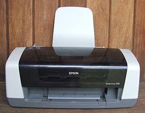 An Epson C45 Inkjet Printer.