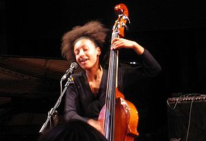 English: Esperanza Spalding performs at the Um...