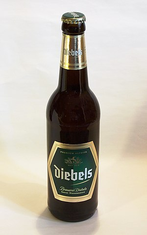 Bottle of Diebels Alt (German beer)