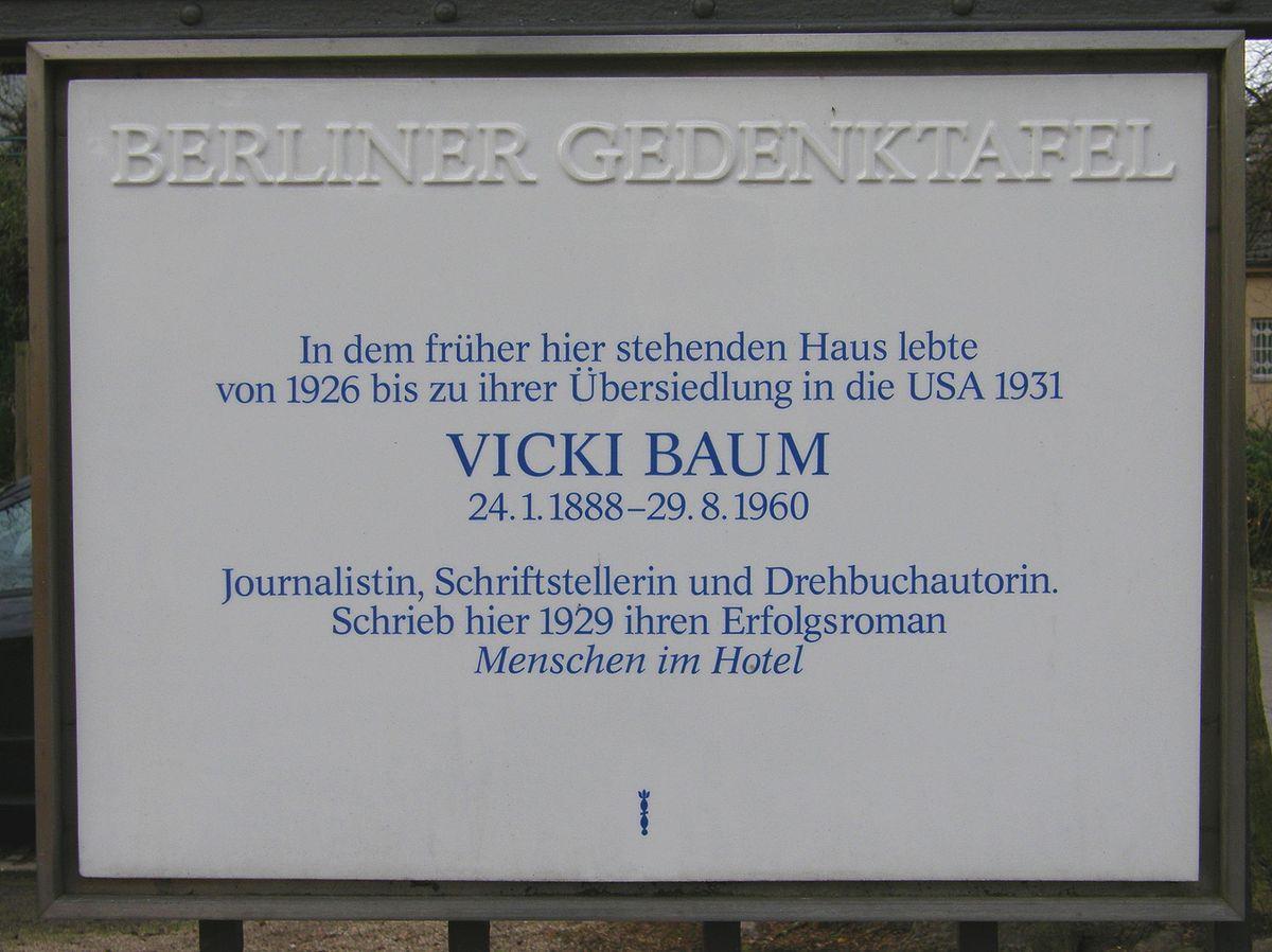 Vicki Baum  Wikiquote