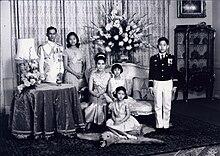 The Royal Family, 1966. Vajiralongkorn stands at far right.