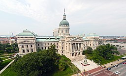 Indiana State Capitol rect pano