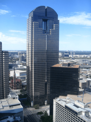 JP Morgan Chase Tower in Dallas, Texas.