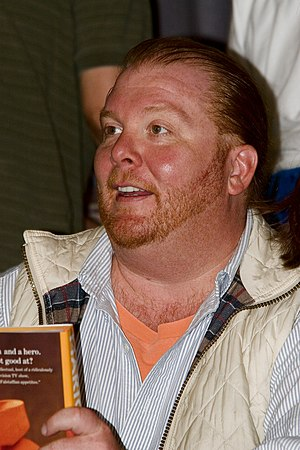 Mario Batali, American chef and restaurateur.
