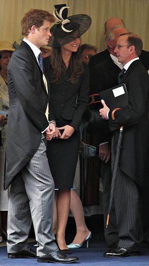 Prince Harry and Kate Middleton at Prince Will...
