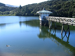Ross Creek Reservoir, Dunedin, New Zealand, lo...